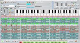 Virtual finger picker, Midi sequencer, VST host,Bass line
